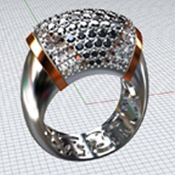 cad with gemstones